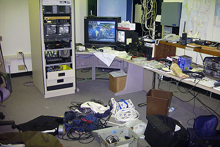 NASA TV re-transmission equipment when first re-assembled at Ames Amateur Radio Club