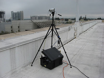 SJ RACES ATV kit deployed on hotel roof