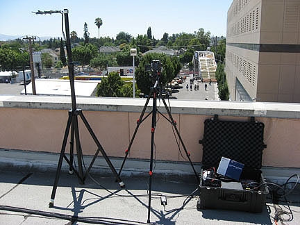 SJ RACES ATV kit deployed on convention center roof